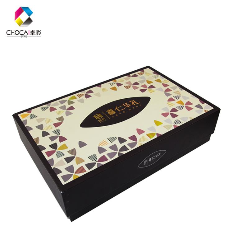 2019 नई डिजाइन बड़े गत्ते का डिब्बा बॉक्स थोक सुंदर यूवी कागज 22 साल के पेशेवर कस्टम सोने के लिए पैकेजिंग बॉक्स खाद्य