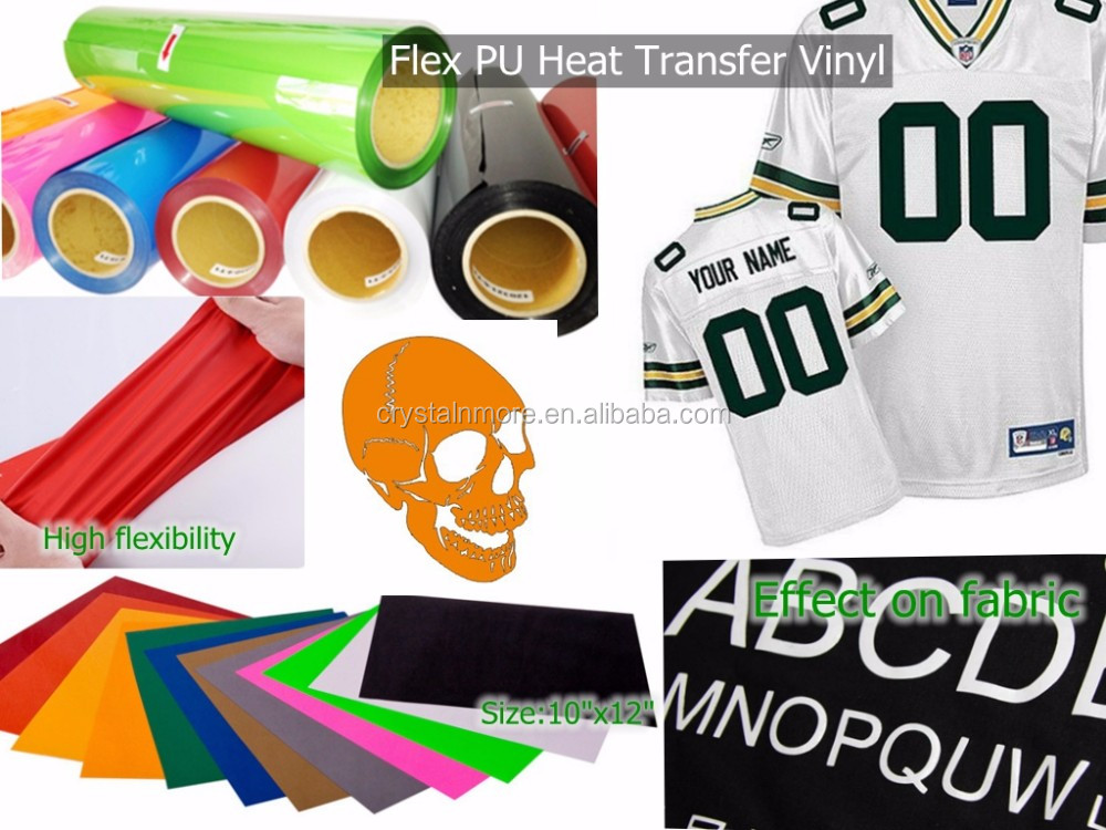 Black PU Heat Transdfer Vinyl Film For Apparel
