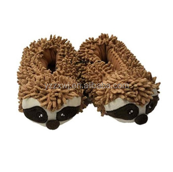 Boys Lumpy Brown Sloth Slippers Plush Critter Animal House Shoes customized made cute stuffed plush sloth animal slippers