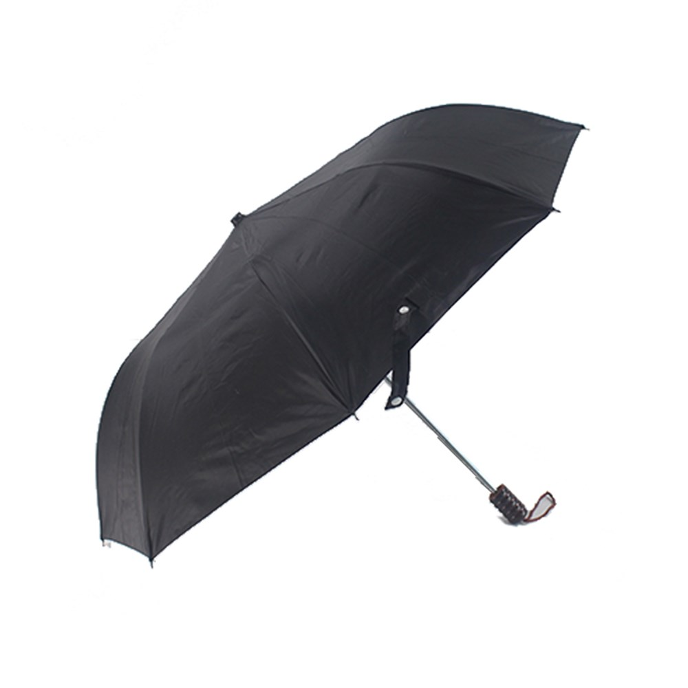 Wholesale 2 folding big black golf Umbrella