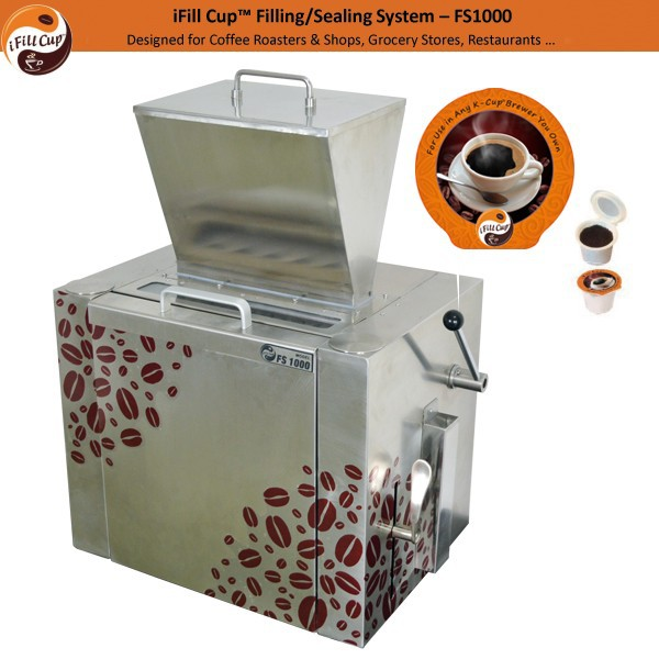 2015 new table top coffee filling machine/ k-cup coffee capsule filling machine