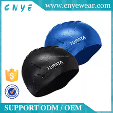 Custom Good quality new style cool silicone swimming cap beautiful