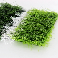 W-shaped artificial grass green fake lawn used football or soccer field