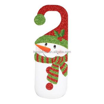 cute snowman santa claus decorative door hanger hook sign xmas door