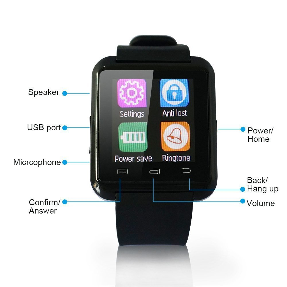 2015 ce rohs U8 android bluetooth smart watch