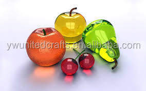 Colores Decorativos De Vidrio Soplado Hecho A Mano Frutas Y
