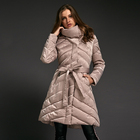 Dress style coat Bow belt round collar high quality down women padded winter jacket