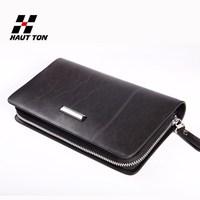 OEM factory handmade mens business wallet leather clutch bag men
