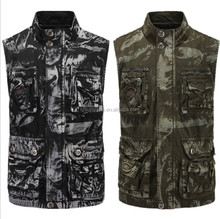 2018 Wholesale CAMO Cotton Canvas Durable Tactical Shooting Hunting Vest