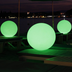 glowing up rechargeable 16 color change cordless led round ball lamp