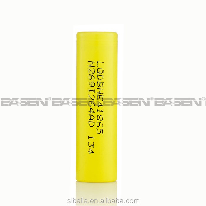 High drain battery cell 3.7v 2500mah lghe4 from china