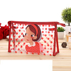 Unique fashion pretty girl pvc waterproof cosmetic Lady makeup bags