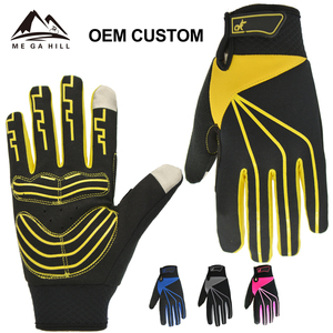 2018 OEM Custom Hot Sales Custom Made Motorcycle Leather Motocross Motorbike Cycling Racing Riding Sports Glove