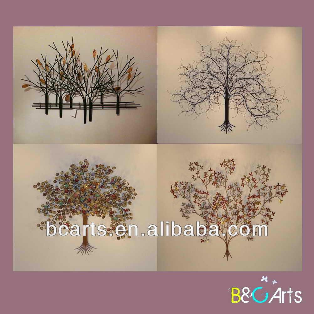 Mooie hoge kwaliteit handgemaakte moderne abstracte boom metalen kunst aan de muur decor voor - Afbeelding van huisdecoratie ...