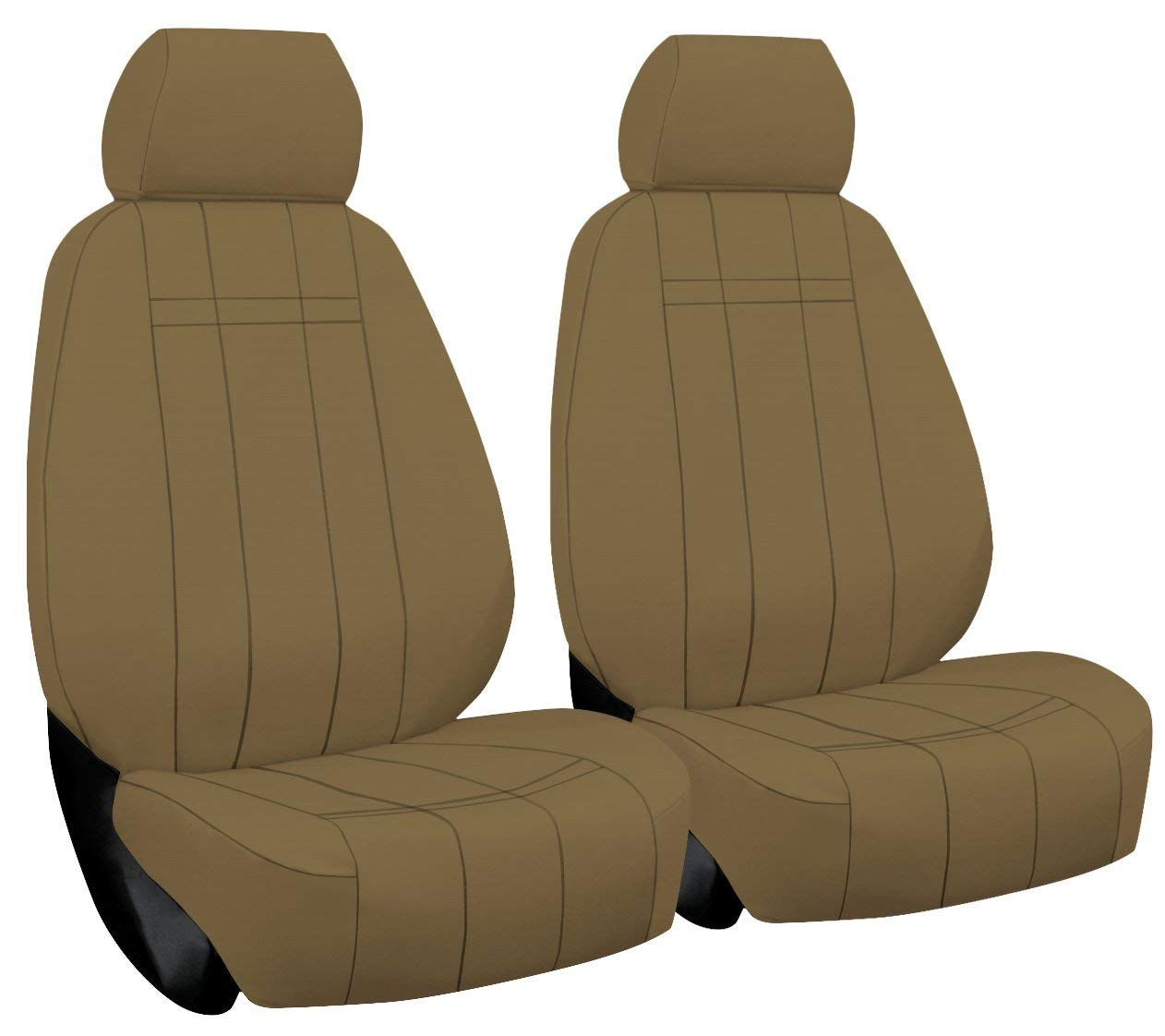 2003-2006 ShearComfort Custom Breathable Mesh Seat Covers for Chevy Avalanche in Black w/Tan for 60/40 Split Back and Bottom w/Pullout Arm and Adjustable Headrests and Seatbelt in Seat Rear SEAT