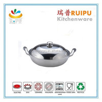 healthy cooking 3 layer stainless steel induction wok pan