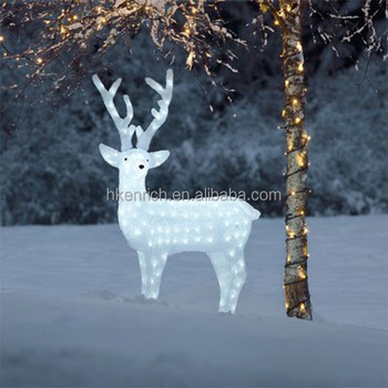 Christmas 120cm led light up acrylic reindeer outdoor for Large outdoor light up christmas ornaments