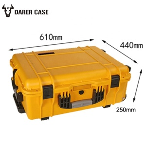 DPC120 padded diviers YELLOW Plastic Case with trolley