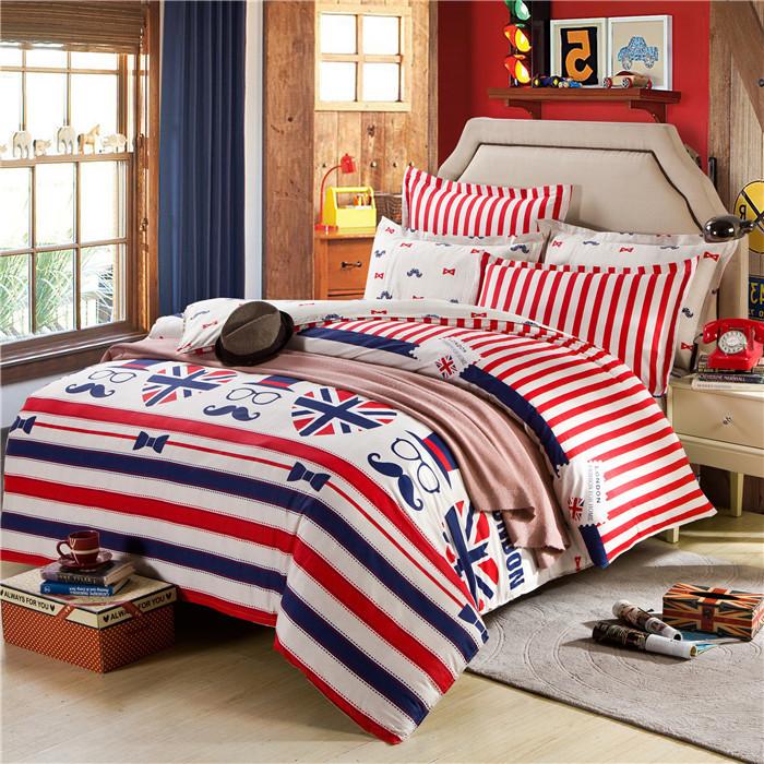 wholesale high qulity bed sheet bedding 3d parure de lit american style bed linen mustache duvet. Black Bedroom Furniture Sets. Home Design Ideas