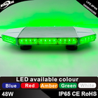 48W 56cm green Mini car roof Led strobe flashing warning light bar
