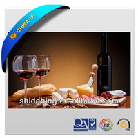 2013 CHINA-P 3D picture of glass bottle & red wine/ PET lenticular decoration picture