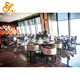 hotel furniture wood restaurant chairs and table set