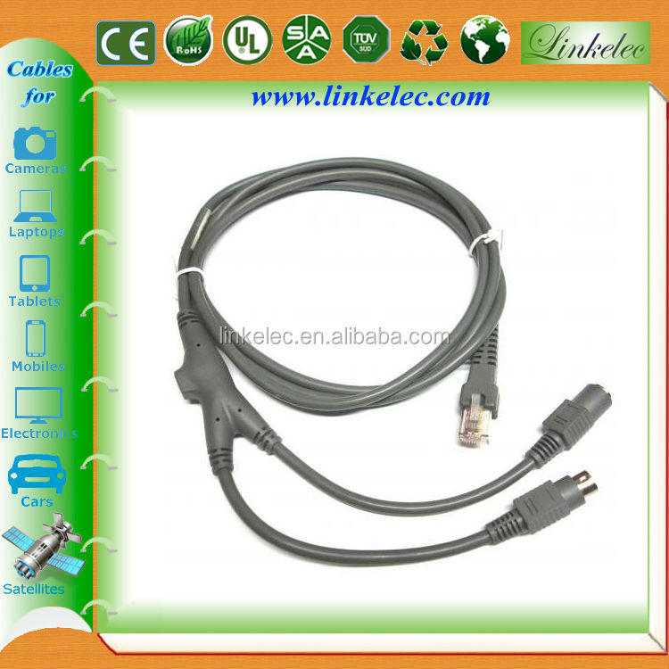 6ft LONG FREE SHIPPING USB Coiled Cable for Symbol Barcode Scanners 2M