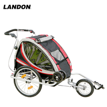 Baby Trailer for two kids bike seat with backrest new type specialized bike trailer with adjustable bar good looking