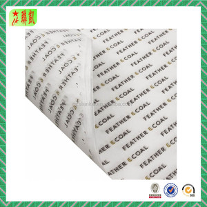 Logo printed white wrapping tissue paper