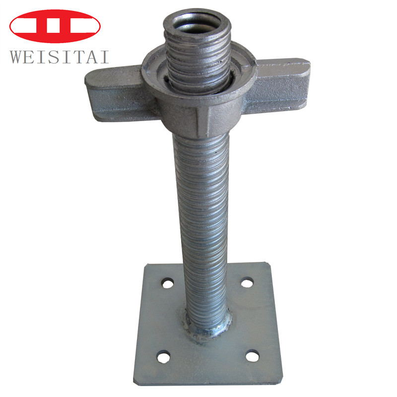 adjustable ladder scaffolding parts solid screw jack base