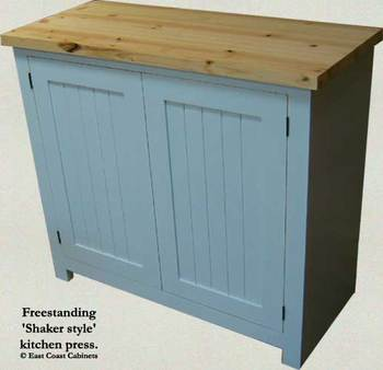 Shaker Style Freestanding Kitchen Cabinet - Buy Kitchen Cabinet ...