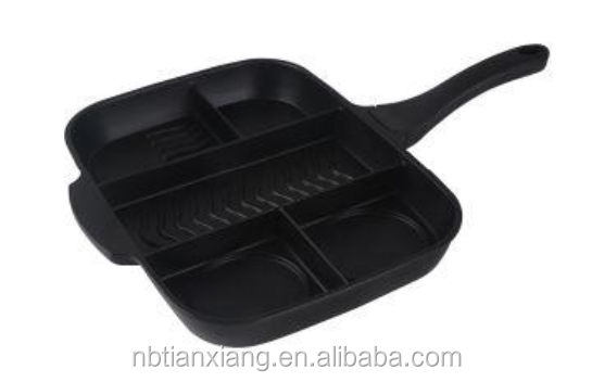 aluminum nonstick multick-functional four in one master diecast grill pan