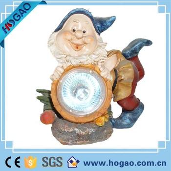 7 Dwarfs Garden Resin Cheap Gnomes With Solar Led Garden Light