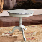 White color wood craft small round table(NG2661)