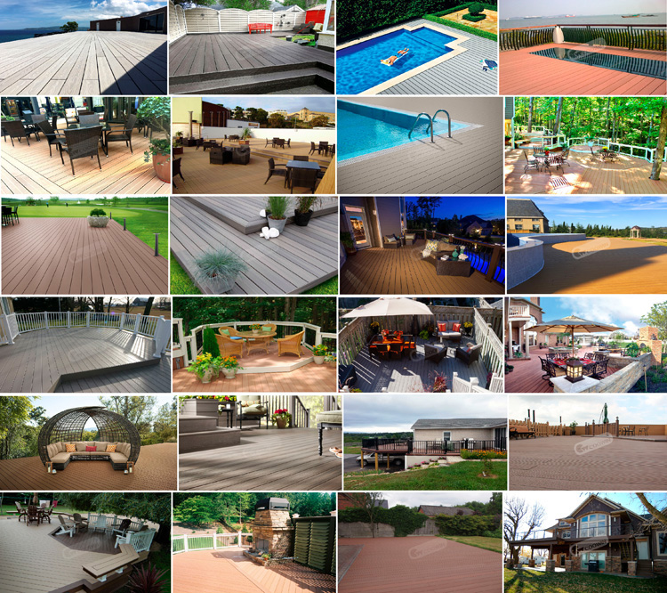 Outdoor Wpc Swimming Pool Lumber Plastic Composite Decking