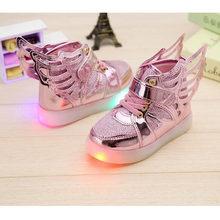 2019; chaussure lumineuse Enfant; Милая обувь с подсветкой; Детский Светильник; кроссовки для девочек; милый Chaussure Fille; классный детский тренер(Китай)