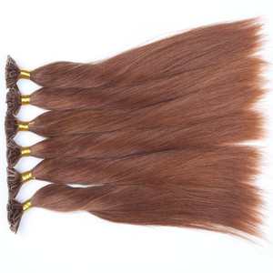 Prebonded Keratin Nail U Tip Hair 2g/strand Biotin Kinky And Curly , 7A 8A 9ABrazilian Human Hair Extensions Good Quality
