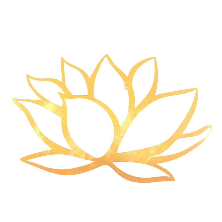 Laser Cut Cheap Wholesale Customized Gold Metal Lotus Flower Wall ...