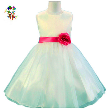 13dbfc8b5f4 Children Party White Gown Tulle Hot Pink Flower Girl Dresses HPC-3120