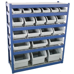 Wholesale Hoifat Office furniture steel metal storage rack with 5-size half opened front bin