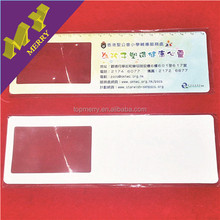 Logo printed plastic credit card size magnifying glass on sale
