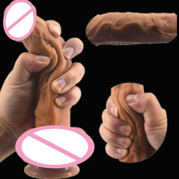 Silicone Realistic Dildo Artificial Penis Fake Dick Sex Products For Women Soft Elastic