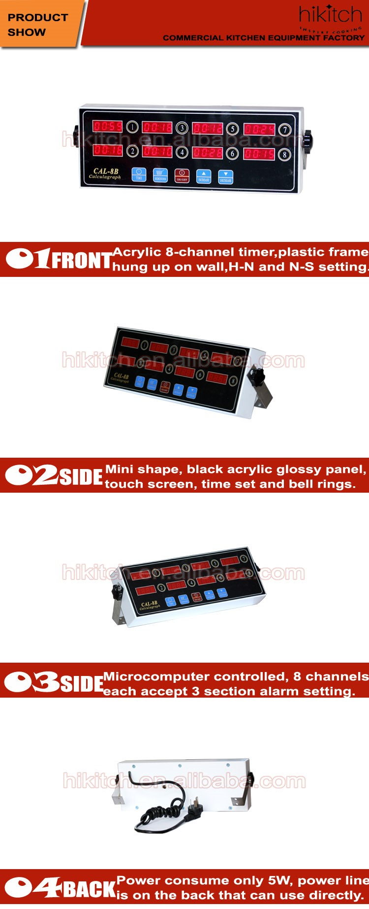 Restaurant Kitchen Timers restaurant kitchen timers fast food touch screen 8 channels