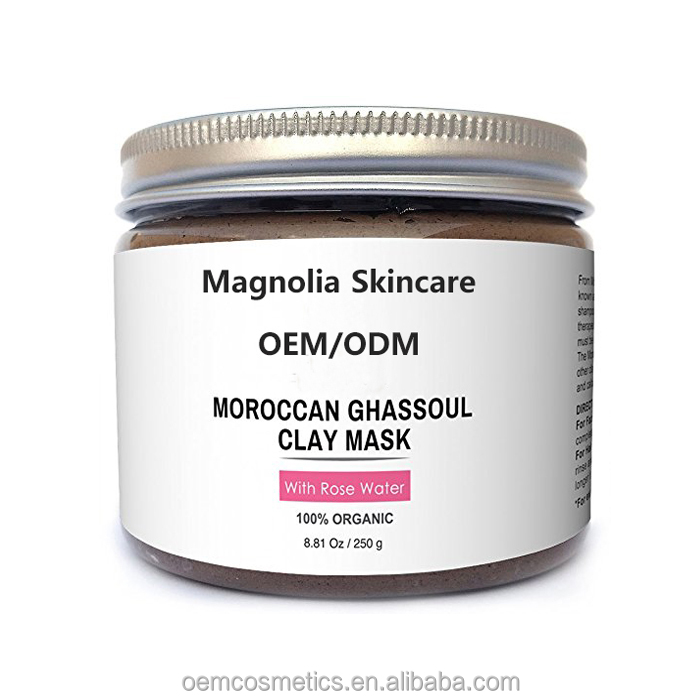 Organic Clay Mask Ghassoul Facial Mask with Rose Water