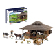 The farm play set with house,animals and farmer figures