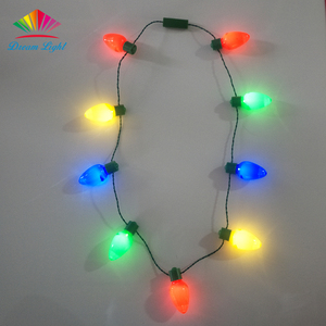 9pcs Jumbo LED Bulb Necklace Light up Christmas Necklace