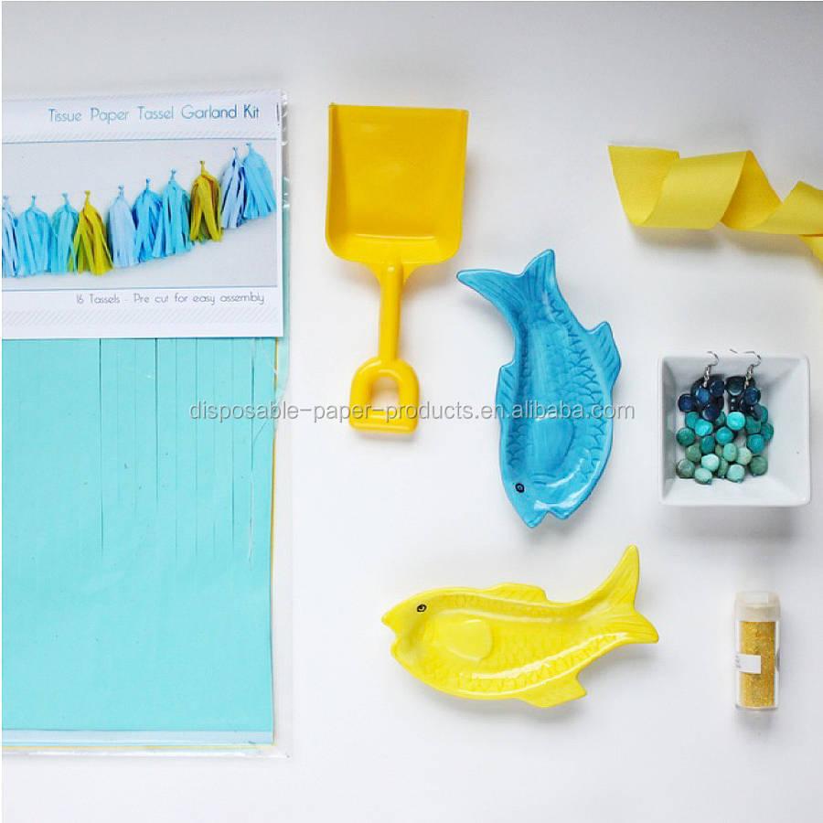 Make Your Own Tissue Tassel Kit -party Decor,Wedding Decor,Birthday ...