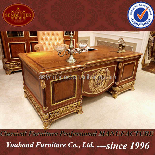 classical office furniture. 0062 European Style Luxury Wooden Executive Office Desk/ Classic Wood Carving Writing Table/ Home Classical Furniture