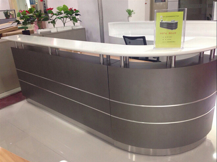 Hot Sale White Modern Reception Counter Table Design
