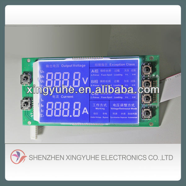 custom lcd and lcm for different types of energy meters